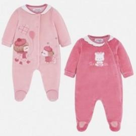 Komplet 2 piżamki welurowe dla dziewczynki Mayoral 2706-80 czerwony