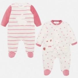 Komplet 2 piżamy welurowe dla chłopca Mayoral 2716-38 róż