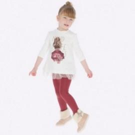 Komplet bluzka i leginsy dla dziewczynki Mayoral 4707-45 bordo