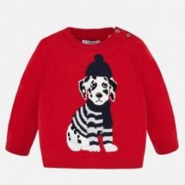 Sweter dla chłopczyka Mayoral 2324-44 czerwony