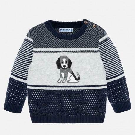 Sweter wkładany przez głowę dla chłopca Mayoral 2322-73 Granat