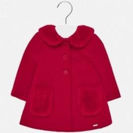 Płaszcz elegancki z kołnierzykiem dla dziewczynki Mayoral 2426-92 Szkarłat
