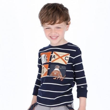 Koszulka z długim rękawem dla chłopca Mayoral 4018-89 Granatowy