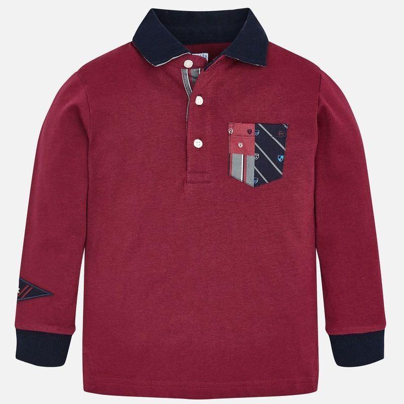 Koszulka polo z długim rękawem chłopięca Mayoral 4112-94 Burak