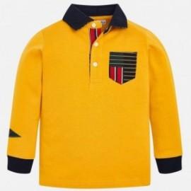 Koszulka polo z długim rękawem chłopięca Mayoral 4112-93 Żółty
