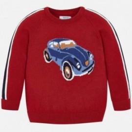 Sweter wkładany przez głowę dla chłopca Mayoral 4312-68 Bordowy