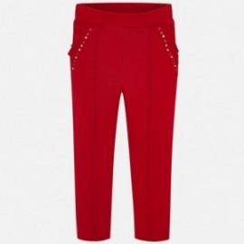 Długie spodnie dla dziewczynki Mayoral 4501-37 Czerwony