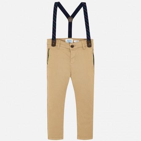 Spodnie eleganckie z szelkami chłopięce Mayoral 4522-25 beż