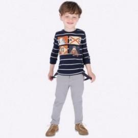 Spodnie eleganckie z szelkami chłopięce Mayoral 4522-26 szary