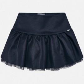 Spódnica zamszowa połyskiem dla dziewczynki Mayoral 4904-56 Granatowy
