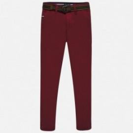 Spodnie eleganckie z pasekiem chłopięce Mayoral 7513-24 bordo