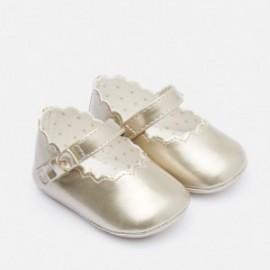Buciki baleriny na pasku błyszczące dla dziewczynki Mayoral 9217-24 Złoty