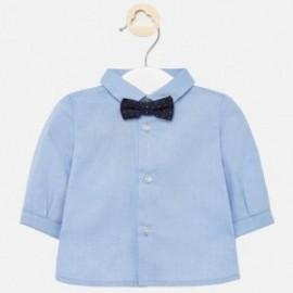 Koszula elegancka z muszką chłopięca Mayoral 1142-33 Błękitny