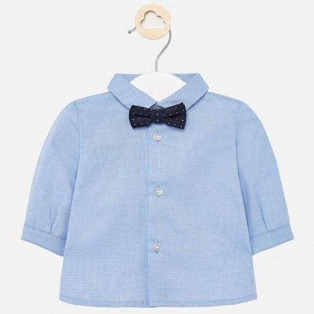 Koszula elegancka z muszką chłopięca Mayoral 1142-33 Niebieski