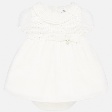 Sukienka elegancka dla dziewczynki Mayoral 1870-72 Kremowy