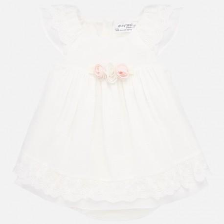 Sukienka elegancka dla dziewczynek Mayoral 1876-72 Kremowy