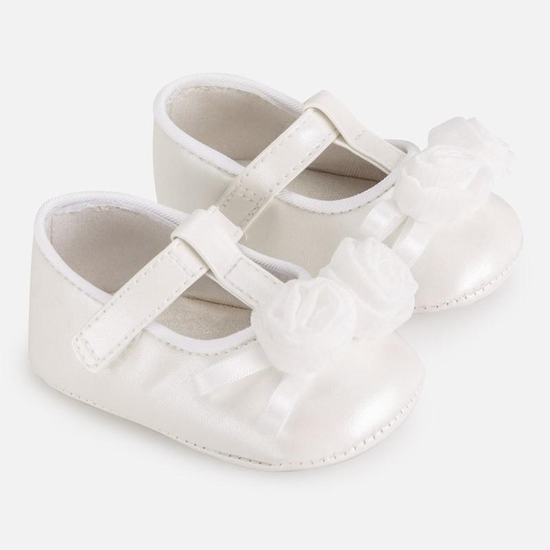 Buciki balerinki dla dziewczynki Mayoral 9285-40 biały
