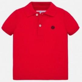 Koszulka polo z krótkim rękawem chłopięca Mayoral 102-58 czerwona