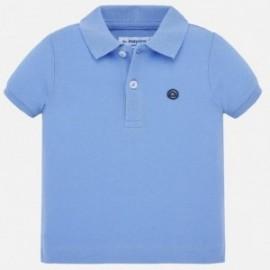 Koszulka polo z krótkim rękawem chłopięca Mayoral 102-59 niebieska