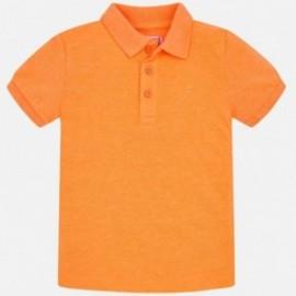 Koszulka polo krótki rękaw dla chłopca Mayoral 150-838 pomarańcz