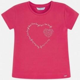 Koszulka sportowa dla dziewczynki Mayoral 174-91 czerwony