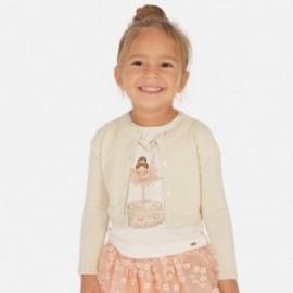 Sweterek elegancki dla dziewczynek Mayoral 321-90 Piasek