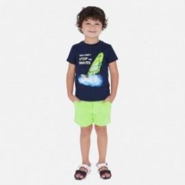 Bermudy bawełniane dla chłopca Mayoral 611-79 seledyn