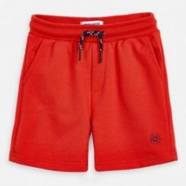 Bermudy bawełniane dla chłopca Mayoral 611-85 czerwony