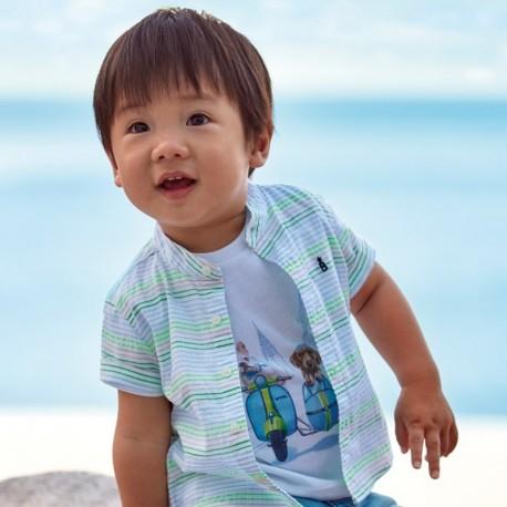 Koszulka krótki rękawek chłopięca Mayoral 1043-24 biały