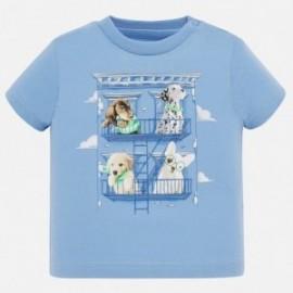 Koszulka krótki rękawek sportowa dla chłopca Mayoral 1044-36 niebieski
