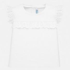 Koszulka krótki rękaw dziewczęca Mayoral 1061-21 biała
