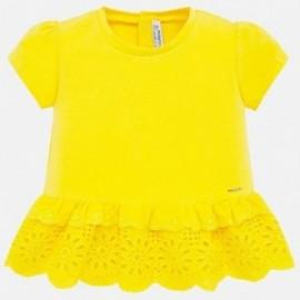 Koszulka z krótkim rękawem dla dziewczynki Mayoral 1062-15 żółta