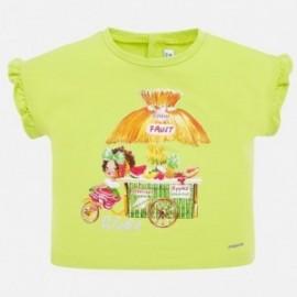 Koszulka z krótkim rękawem dla dziewczynki Mayoral 1064-61 pistacja