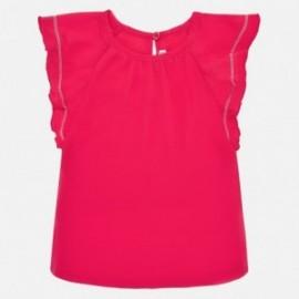 Koszulka krótki rękawek dla dziewczynki Mayoral 1066-79 czerwona