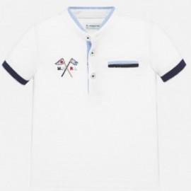 Koszulka polo na stójce dla chłopczyka Mayoral 1144-16 biała