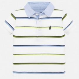 Koszulka polo w paski dla chłopca Mayoral 1151-75 biała