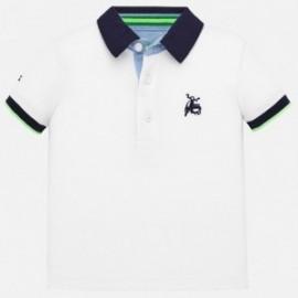 Polo koszulka gładka z haftem chłopięca Mayoral 1152-91 biała