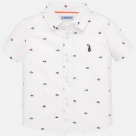 Koszula z nadrukiem dla chłopczyka Mayoral 1159-86 biała