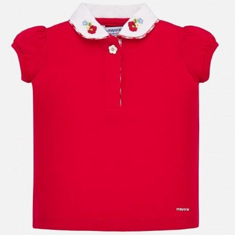 Koszulka polo z kołnierzykiem dla dziewczynki Mayoral 1167-65 Czerwony