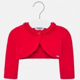 Sweterek elegancki dla dziewczynki Mayoral 1468-44 Czerwony