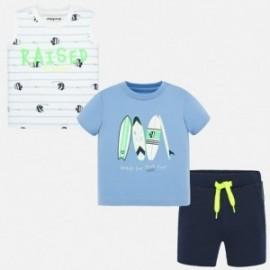 Komplet 2 koszulki i bermudy dla chłopca Mayoral 1691-56 Niebieski