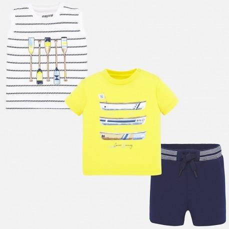 Komplet 3-częściowy sportowy chłopięcy Mayoral 1693-16 Żółty