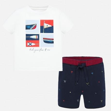 Komplet koszulka i bermudy chłopięcy Mayoral 1694-88 Granatowy