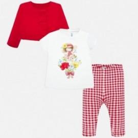 Komplet 3-częściowy dla dziewczynki Mayoral 1706-56 Czerwony
