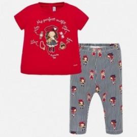 Komplet bluzka i leginsy dziewczęcy Mayoral 1716-12 Czerwony