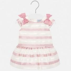 Sukienka w paski dla dziewczynki Mayoral 1908-37 Różowy