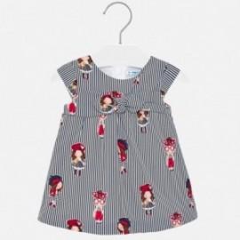 Sukienka w paski dla dziewczynki Mayoral 1917-41 Granatowy