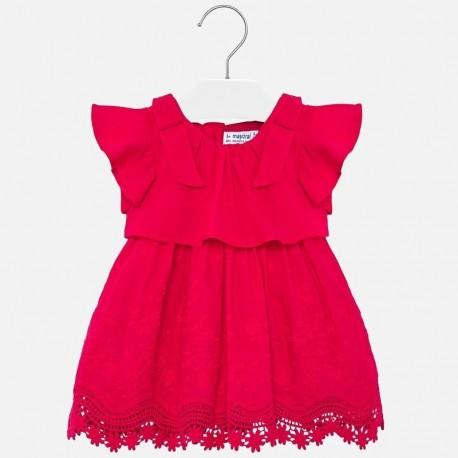 Sukienka z haftem dziewczęca Mayoral 1921-10 Czerwony