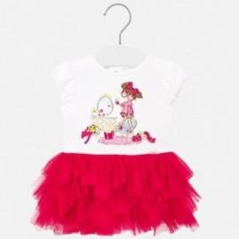 Sukienka z tiulem dziewczęca Mayoral 1922-21 Czerwony