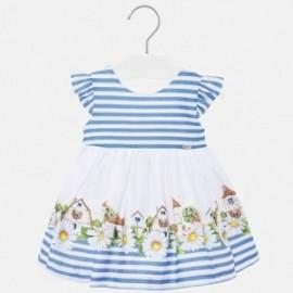 Sukienka w paski dla dziewczynki Mayoral 1932-83 Błękitny